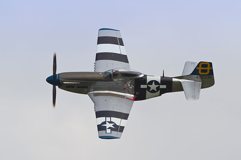 North American P-51 Mustang 'Jumpin' Jacques'. Image available from Simon Westwood of Fly-by-Light Photography.