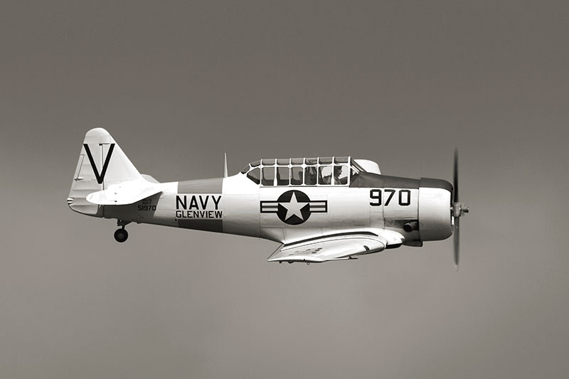 North American Harvard SNJ-5. Image available from Simon Westwood of Fly-by-Light Photography.