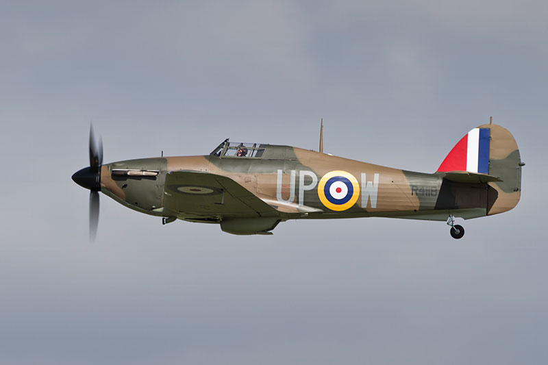 Hawker Hurricane Mark 1, R4118. Image available from Simon Westwood of Fly-by-Light Photography.