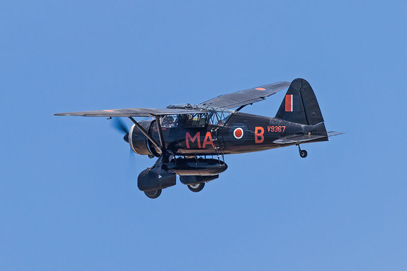 Westland Lysander. Image available from Simon Westwood of Fly-by-Light Photography.