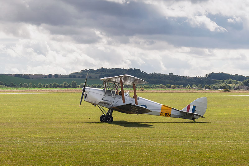 dh 82 'Tiger Moth'. Image available from Simon Westwood of Fly-by-Light Photography.