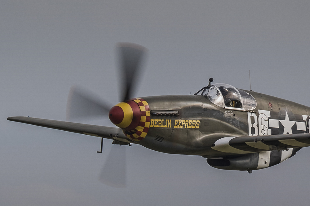 North American Mustang - Berlin Express. Image available from Simon Westwood of Fly-by-Light Photography.