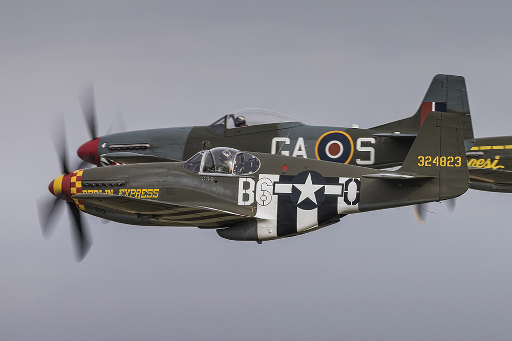 Mustang P-51B 'Berlin Express'. Image available from Simon Westwood of Fly-by-Light Photography.