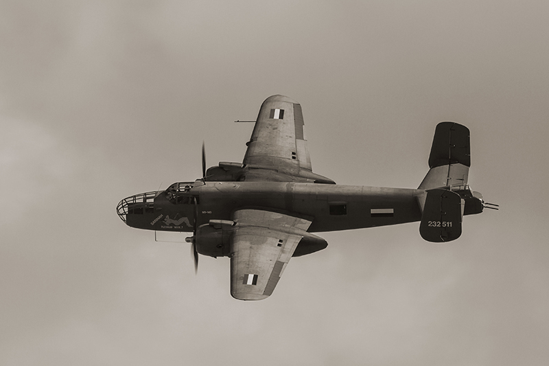 North American Mitchell bomber. Image available from Simon Westwood of Fly-by-Light Photography.