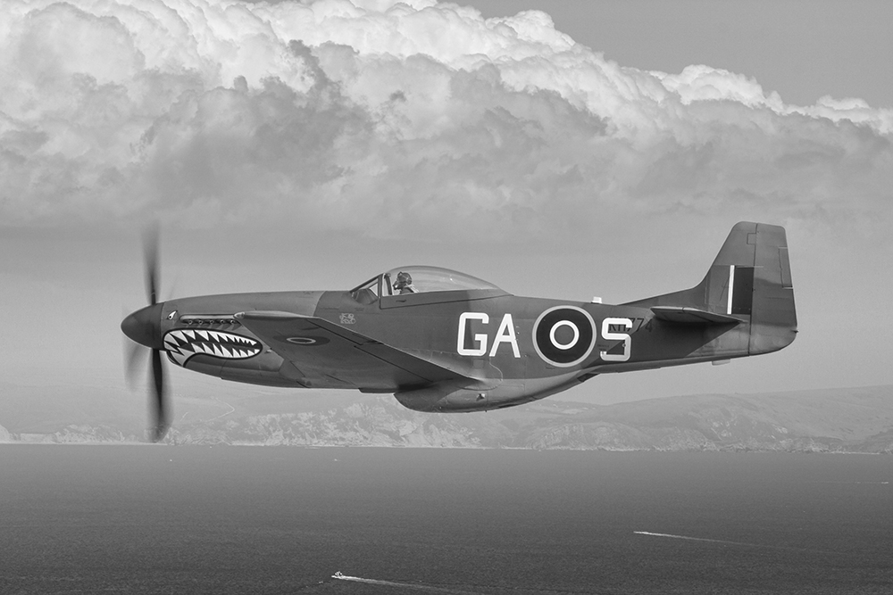 RAF Mustang. Image available from Simon Westwood of Fly-by-Light Photography.