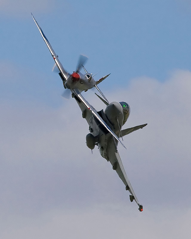 Spitfire Mk IX & Typhoon. Image available from Simon Westwood of Fly-by-Light Photography.