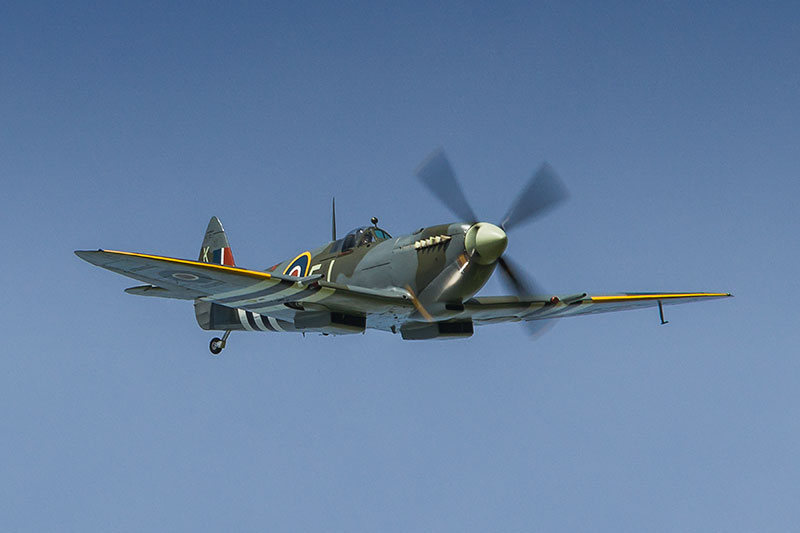 Spitfire Mk LFIXe - MH356. Image available from Simon Westwood of Fly-by-Light Photography.