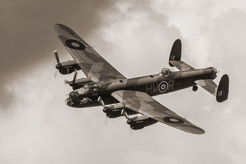 BBMF - Lancaster. Image available from Simon Westwood of Fly-by-Light Photography.