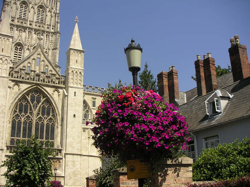 Hanging Basket - Lincoln Cathedral. Image available from Simon Westwood of Fly-by-Light Photography.
