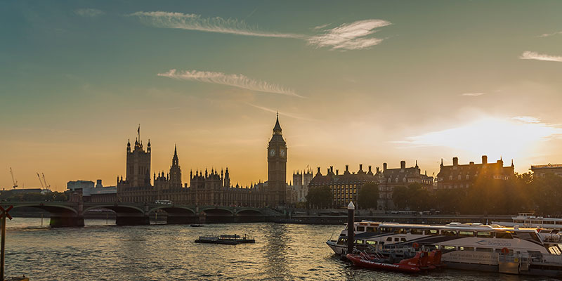 Thames Sunset. Image available from Simon Westwood of Fly-by-Light Photography.