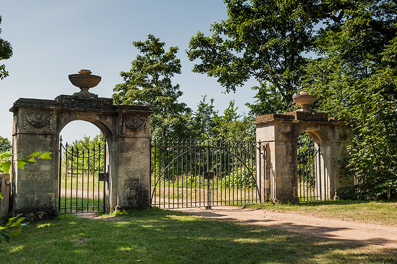 Croome Park Gateway. Image available from Simon Westwood of Fly-by-Light Photography.