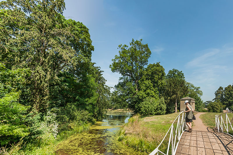 Croome Park ornamental lake. Image available from Simon Westwood of Fly-by-Light Photography.