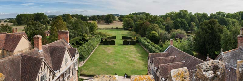 Coughton Court Panorama. Image available from Simon Westwood of Fly-by-Light Photography.