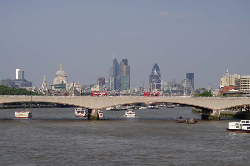 The City of London from Westminster Bridge. Image available from Simon Westwood of Fly-by-Light Photography.