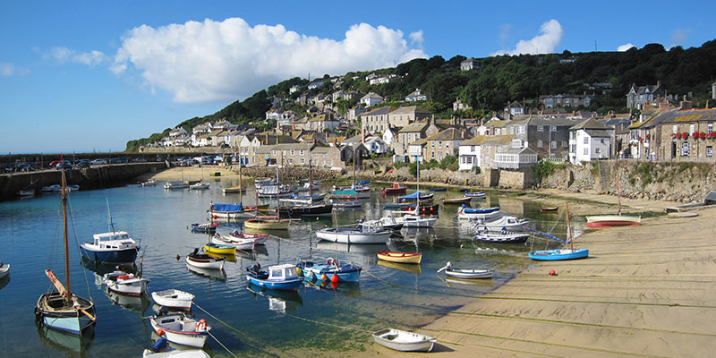 The Harbour, Mousehole, Cornwall. Image available from Simon Westwood of Fly-by-Light Photography.