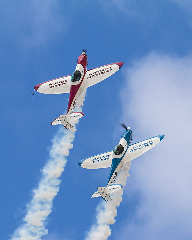 SWIP Aerobatic Team. Image available from Simon Westwood of Fly-by-Light Photography.