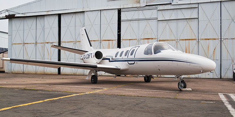 Cessna Citation 500. Image available from Simon Westwood of Fly-by-Light Photography.