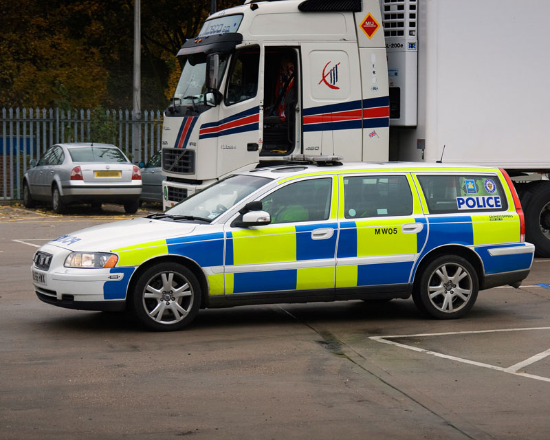 Centra Motorway Police Group Volvo T5. Image available from Simon Westwood of Fly-by-Light Photography.