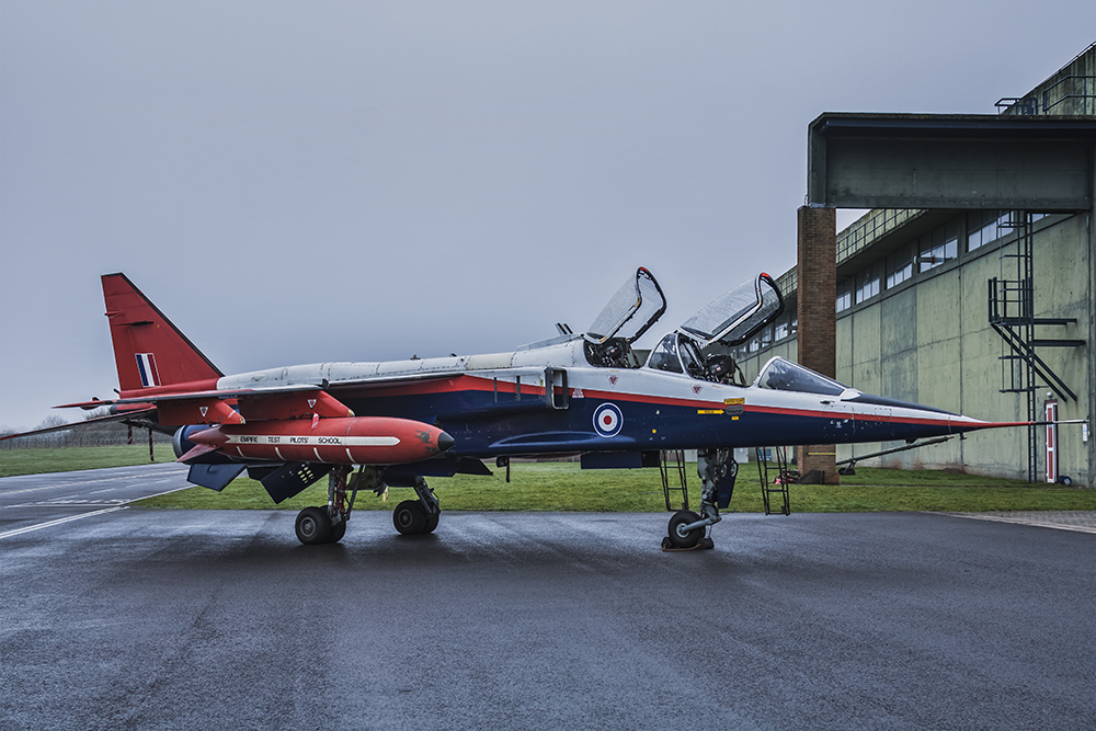 Sepecat Jaguar - T.2. Image available from Simon Westwood of Fly-by-Light Photography.