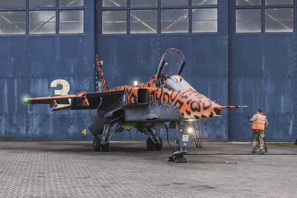 Sepecat Jaguar - The 'Spotty' Jaguar. Image available from Simon Westwood of Fly-by-Light Photography.