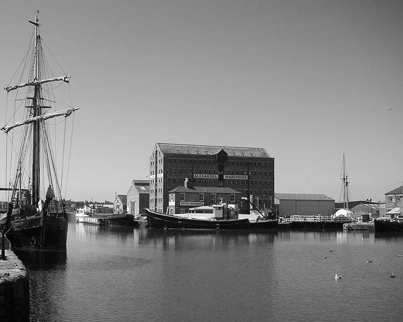 Gloucester Docks. Image available from Simon Westwood of Fly-by-Light Photography.