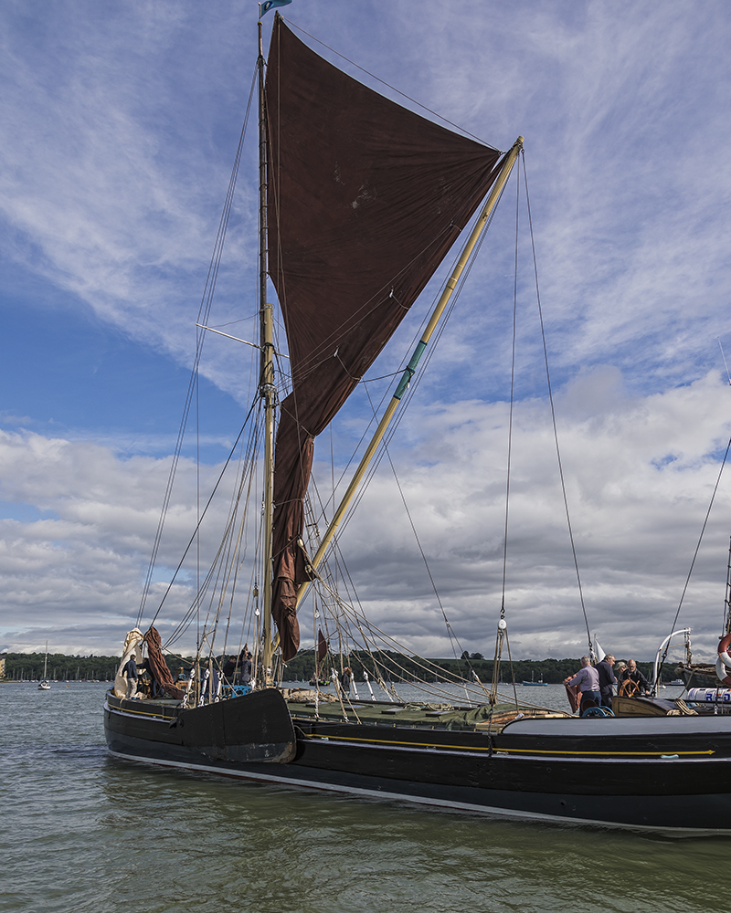 Thames Barge - Edith May. Image available from Simon Westwood of Fly-by-Light Photography.