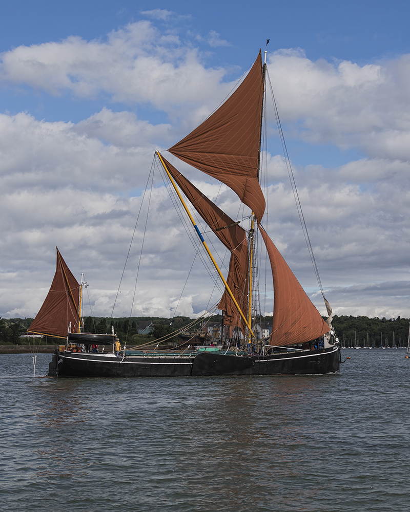 Thames Barge - Ironsides. Image available from Simon Westwood of Fly-by-Light Photography.