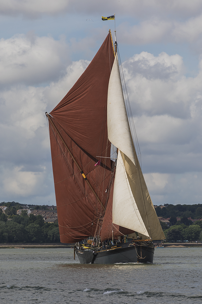 Thames Barge - Marjorie. Image available from Simon Westwood of Fly-by-Light Photography.