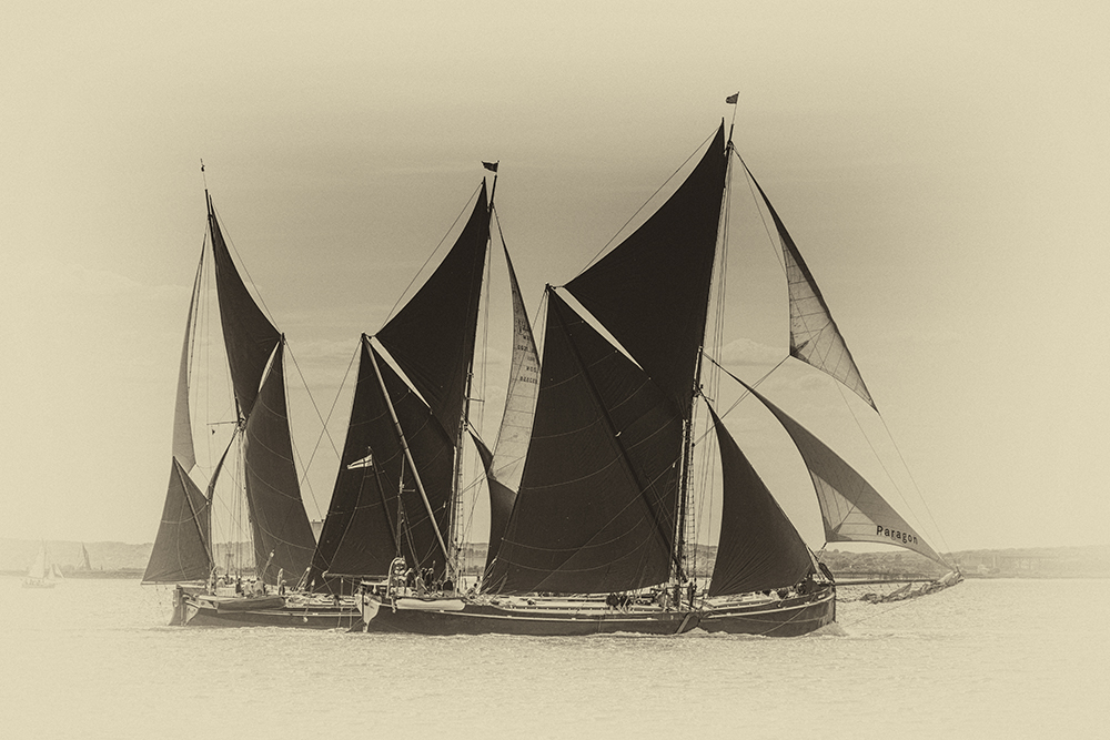 Thames Barge Racing. Image available from Simon Westwood of Fly-by-Light Photography.