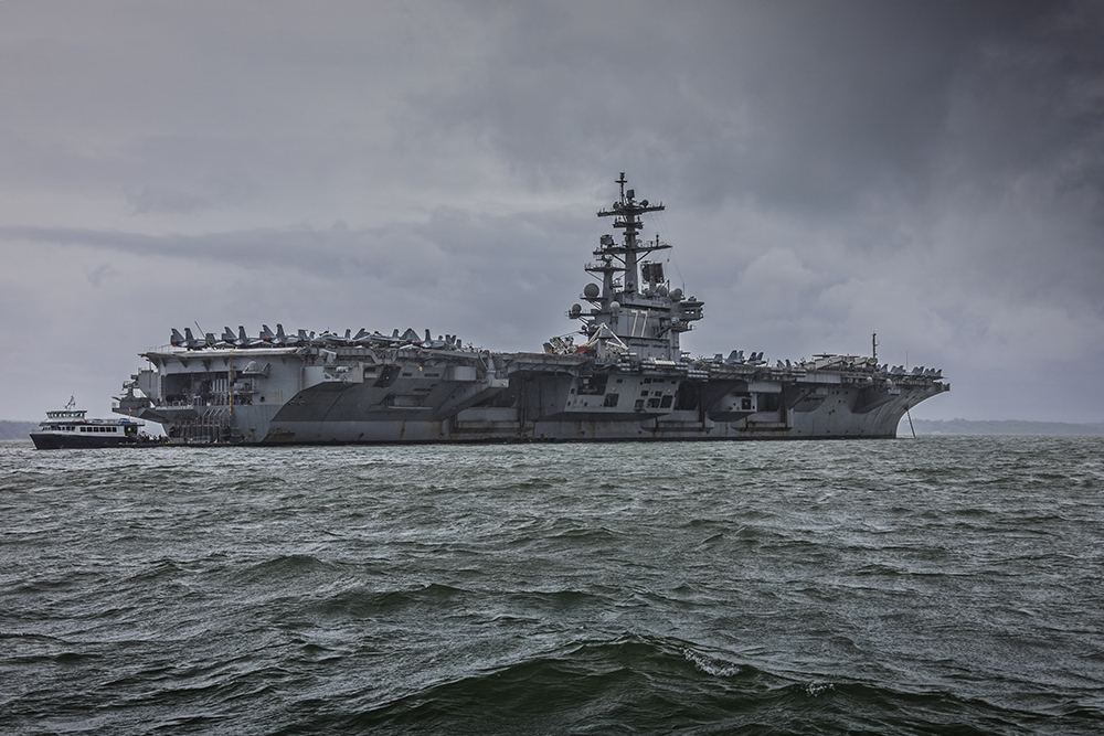 USS George H. W. Bush - CVN-77. Image available from Simon Westwood of Fly-by-Light Photography.