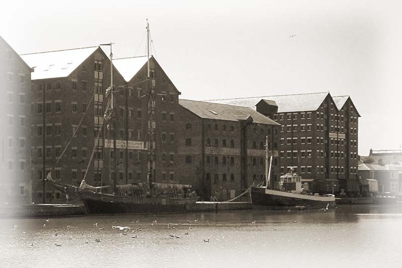 Ships at Gloucester dockside. Image available from Simon Westwood of Fly-by-Light Photography.