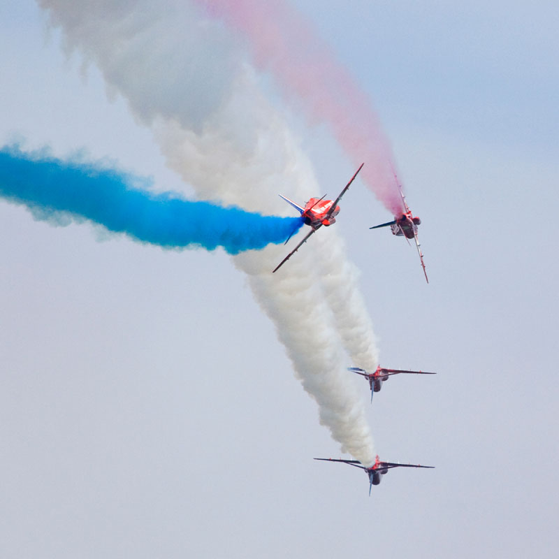 Red Arrows Formations. Image available from Simon Westwood of Fly-by-Light Photography.