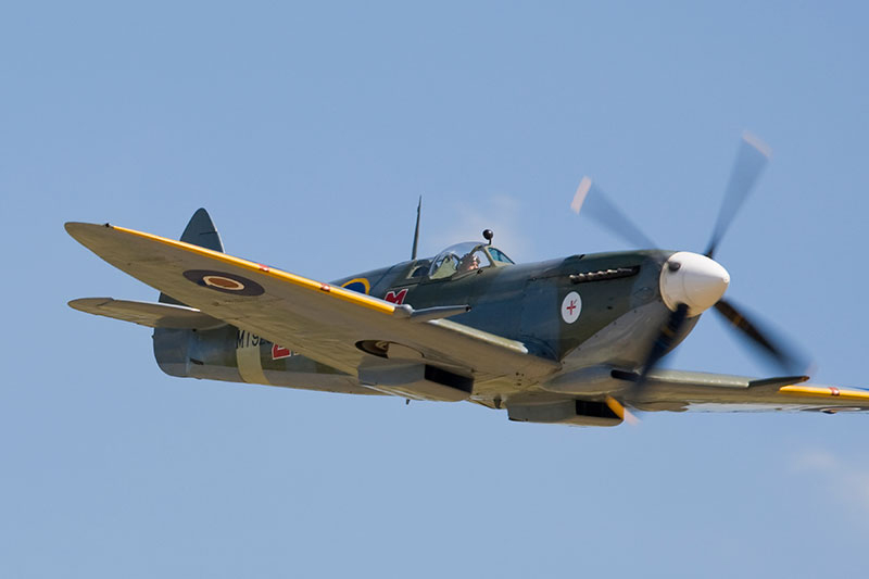 Spitfire Mk.VIII. Image available from Simon Westwood of Fly-by-Light Photography.