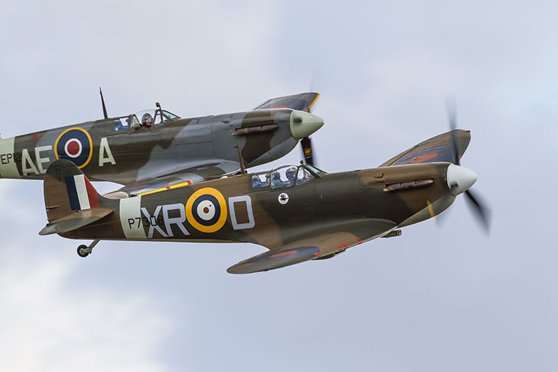 Spitfire Mk 1a - P7308 (and Mk V). Image available from Simon Westwood of Fly-by-Light Photography.