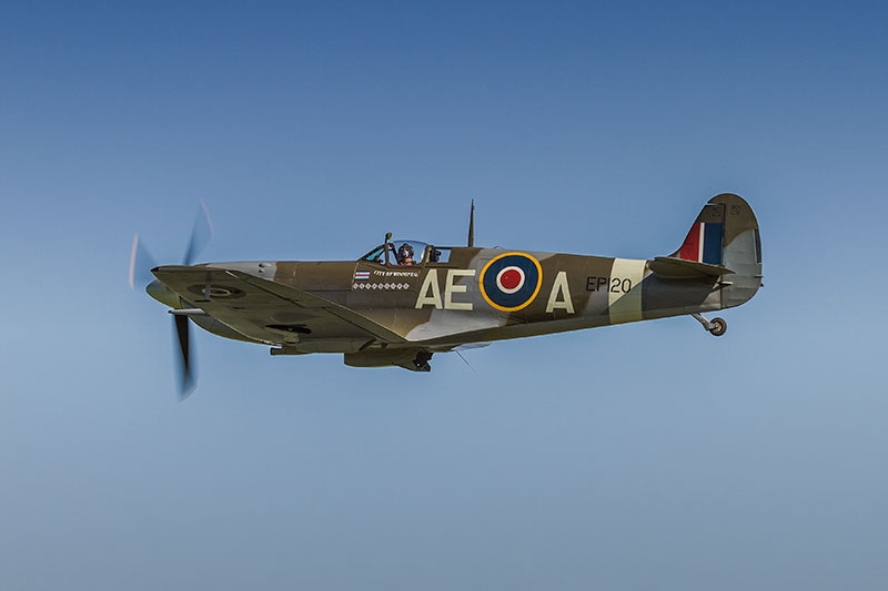 Spitfire Mk LF Vb. Image available from Simon Westwood of Fly-by-Light Photography.