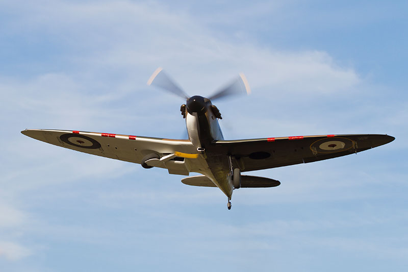 Spitfire Mk 1. Image available from Simon Westwood of Fly-by-Light Photography.