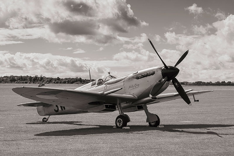Spitfire Mk IX. Image available from Simon Westwood of Fly-by-Light Photography.