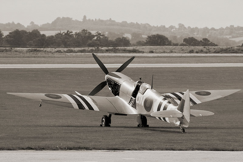 Spitfire Mk VII. Image available from Simon Westwood of Fly-by-Light Photography.