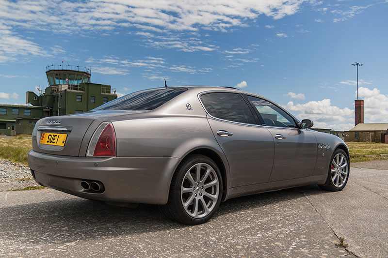 Maserati Quattroporte. Image available from Simon Westwood of Fly-by-Light Photography.