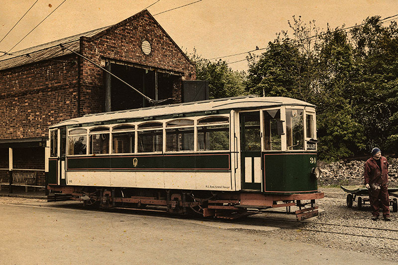 Dudley Tram. Image available from Simon Westwood of Fly-by-Light Photography.