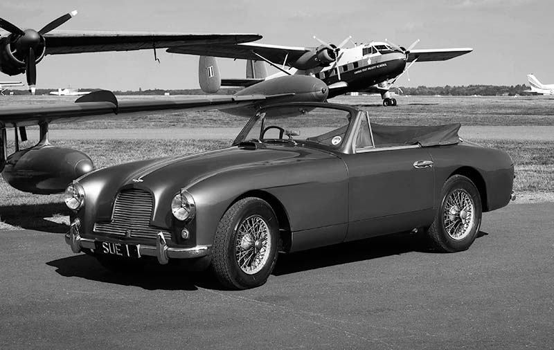 Aston-Martin DB 2/4, Mk 2, drophead. Image available from Simon Westwood of Fly-by-Light Photography.