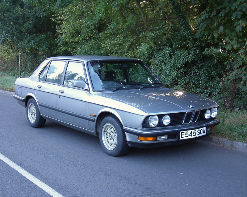 BMW 525e (E28). Image available from Simon Westwood of Fly-by-Light Photography.