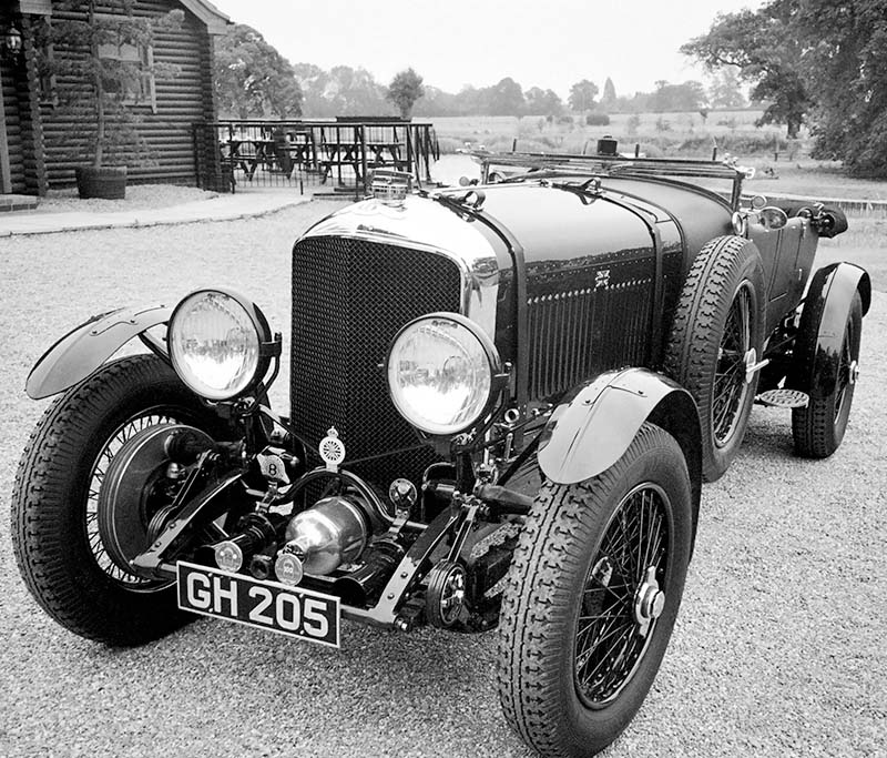 Bentley six and a half litre. Image available from Simon Westwood of Fly-by-Light Photography.