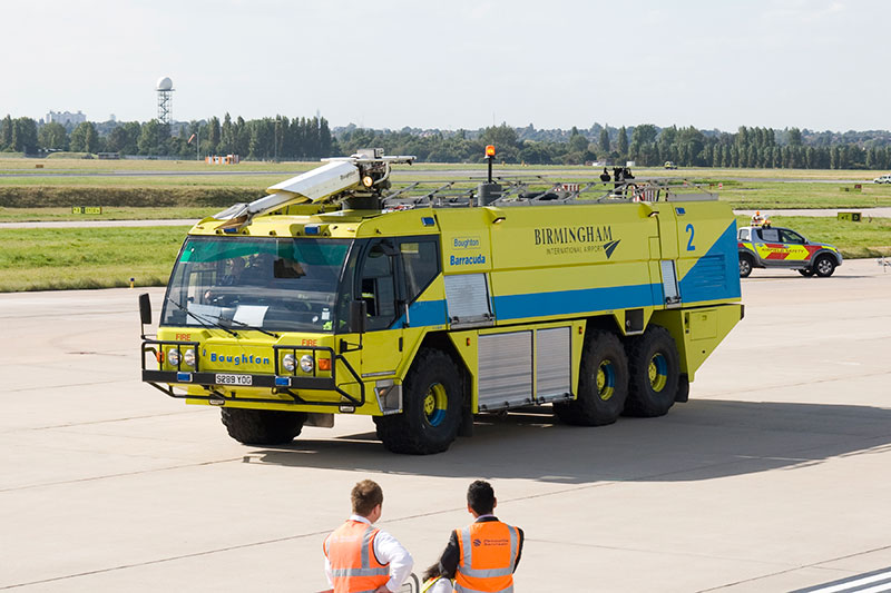 Airport Fire Tender - Boughton 'Barracuda'. Image available from Simon Westwood of Fly-by-Light Photography.